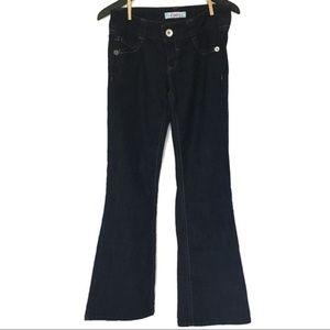 """Candies Boot Cut Dark Jeans Size 5 / 28"""" Waist"""
